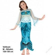 Dětský karnevalový kostým MOŘSKÁ VÍLA PLOUTVIČKA 120-130 cm (5 - 9 let)